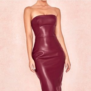 House of cb leather dress